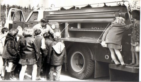 School Tour 1970 - with Chief Tom Robilliard