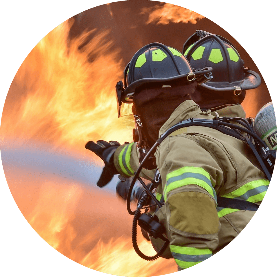 Image of firefighters in action