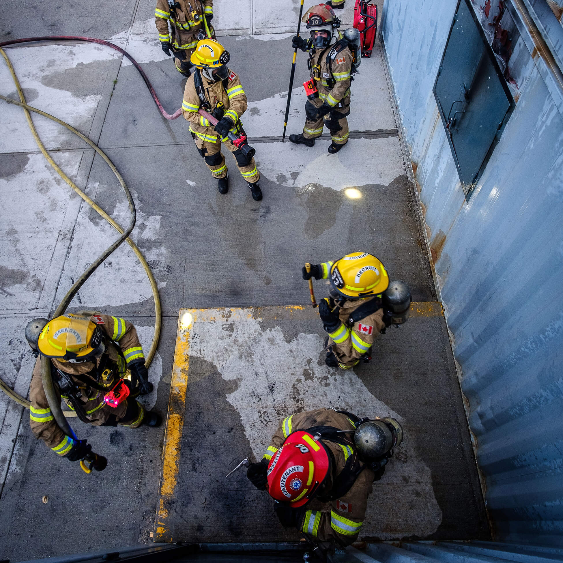 A group of our firefighters during a training exercise