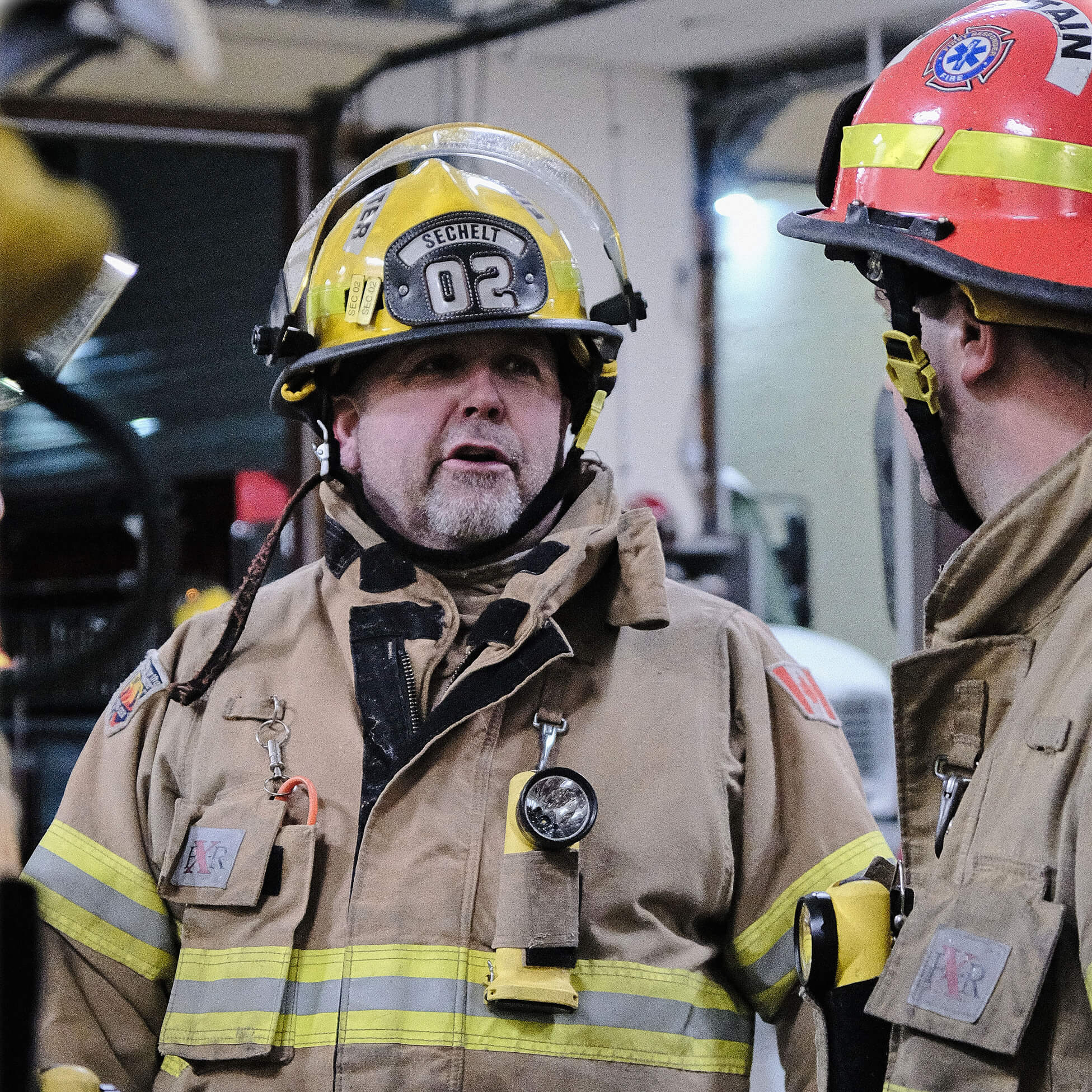 One of our firefighters geared-up