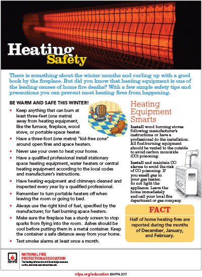 Heating Safety, 114KB PDF
