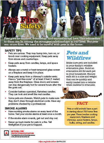 Pet Fire Safety, 103KB PDF