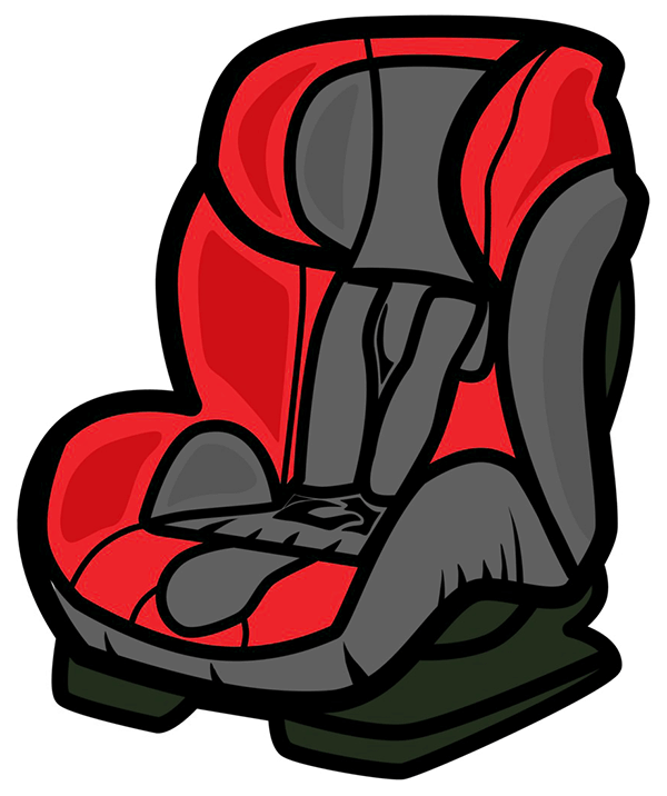 Illustration of a child's car seat